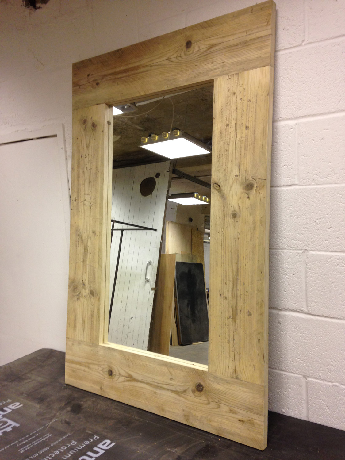 Reclaimed Scaffold Board Mirror